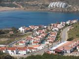 Playas de Fornells, urbanizacion de Cala Tirant, costa norte de Menorca