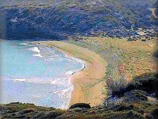 Cala Tortuga, es otra playa virgen dentro del parque Albufera de Es Grao, y proximo al Faro de Favaritx