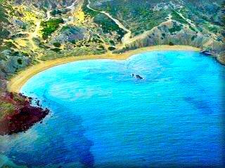 En Cala Cavalleria hay varias playas, Ferragut, playa de Binimella cala Mica