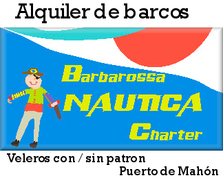 Alquilar un velero en menorca, base del barco en el puerto de Mahon, salidas de un dia o una semana, consulte la web para mas informacion de las exursiones y precios